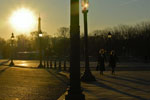 place de la concorde sunset